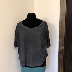 Free People off/on shoulder oversized top